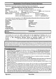 Registration Form/Training Contract-Germany ISS International ...