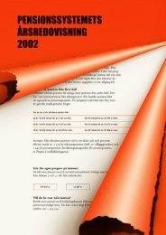 Pension april 2003 original-2-a versionen.indd - Försäkringskassan