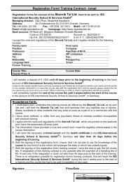 Registration Form - ISS International Security School & Services ...