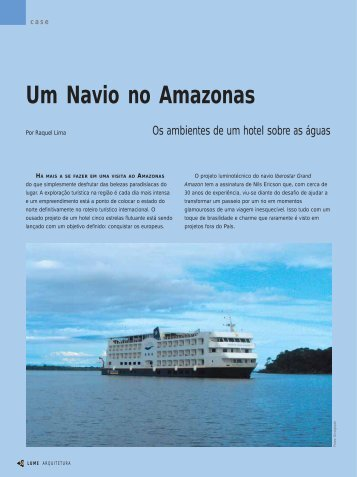 Um Navio no Amazonas - Lume Arquitetura