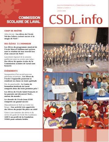 Volume 5, numéro 5, janvier 2005 - Commission scolaire de Laval