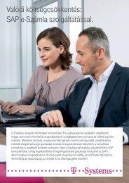 Valódi költségcsökkentés: SAP e-Számla szolgáltatással. - T-Systems