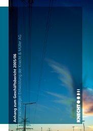Anhang zum Geschäftsbericht 2006 zur nachhaltigen Entwicklung ...