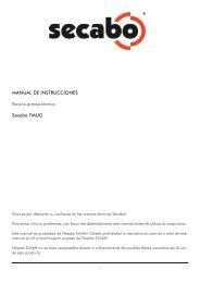 MANUAL DE INSTRUCCIONES Para la prensa térmica Secabo TMUG