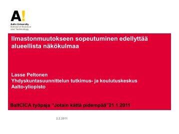 Ilmastonmuutokseen sopeutuminen ja aluesuunnittelu ... - BaltCICA