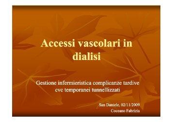 Accessi vascolari in dialisi. FABRIZIA