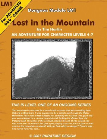 lost in the mountain: level 1