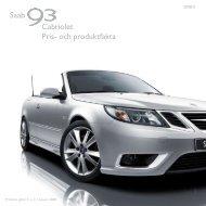 Saab Cabriolet Pris- och produktfakta - SaabsUnited