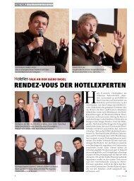 RENDEZ-VOUS DER HOTELEXPERTEN - Schweizer Hoteljournal