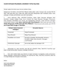 kajian kepuasan pelanggan, universiti putra malaysia - UPM ...