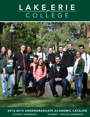 2012 08 07 Undergraduate Catalog Cover - Lake Erie College