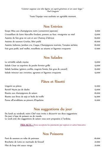 Découvrez la nouvelle carte Automne 2012 de notre Restaurant l ...