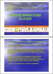 GRUPO DE TRABAJO II FASE DE LA CETS - EUROPARC-España