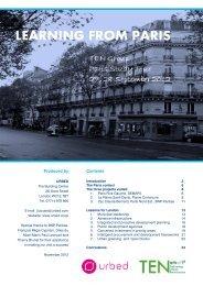 REPORT OF PARIS STUDY TOUR - Urbed