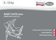 BABY-SAFE plus 0 - 13 kg - Britax Römer
