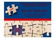 Mw. M.E. Slaats-Gels - RINO Groep