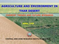 AGRICULTURE AND ENVIRONMENT IN THAR DESERT