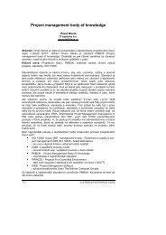 Project management body of knowledge - Česká společnost pro ...