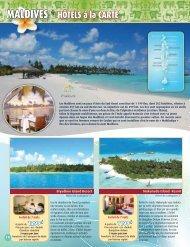 MALDIVES * HÔTELS à la CARTE - Voyages Cassis