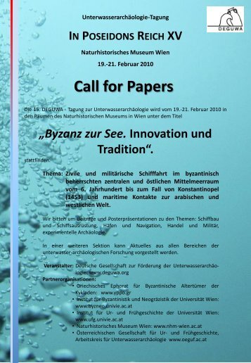 Call for Papers - DEGUWA