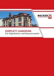 KOMPLETT-SANIERUNG - Wacker Sanierung