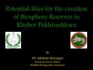 Potential Sites for the creation of Biosphere Reserves ... - Ev-K2-CNR