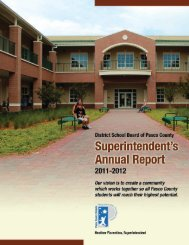 Annual Report for 2011-2012 - Pasco County Schools