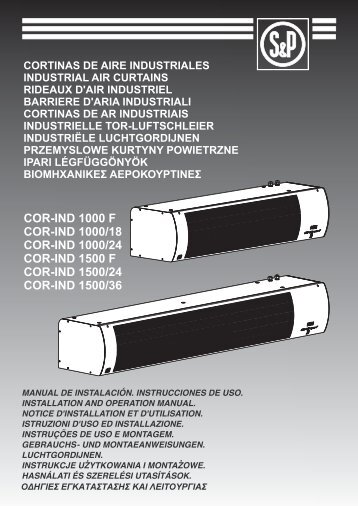 Instruzioni COR IND - Soler & Palau