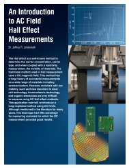 An Introduction to AC Field Hall Effect Measurements - Lake Shore ...
