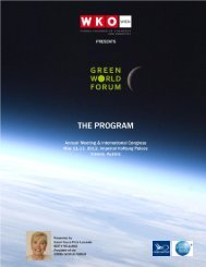 1 GREEN WORLD FORUM Program / Version: 8 / May 9, 2012
