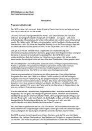 1 SPD Mülheim an der Ruhr Der Unterbezirksvorstand Resolution ...