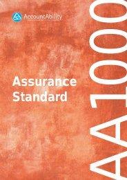 AA1000 Assurance Standard - Der Runde Tisch