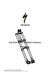 AFR E150 FORK OWNER'S MANUAL