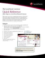 Quick Reference - LexisNexis
