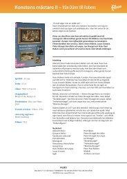 Konstens mästare II – från Dürer till Rubens - SLI.se