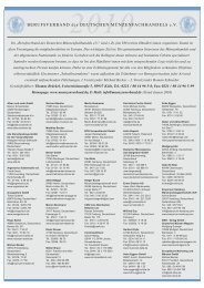 2010 - Berufsverband des Deutschen Münzenfachhandels eV