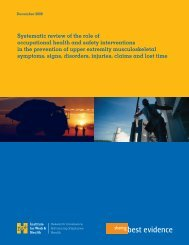 Systematic review of the role of occupational health and safety ...