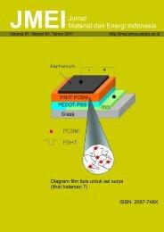 Download JMEI Vol. 01 No. 01, Februari 2011 - Jurnal Material dan ...