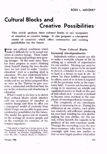 Cultural Blocks and Creative Possibilities - ASCD