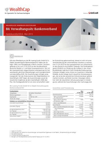 BIL Verwaltungssitz Bankenverband (Berlin) - WealthCap