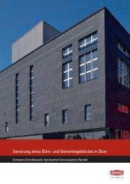 Sanierung eines Büro- und Gewerbegebäudes in Baar - Alsecco
