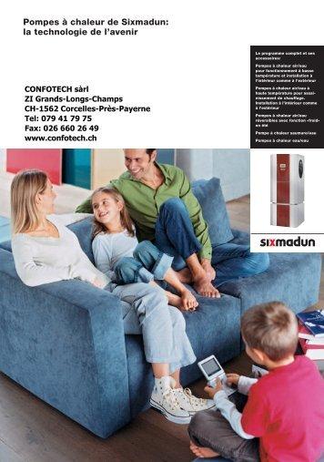 Pompes à chaleur de Sixmadun - Confotech