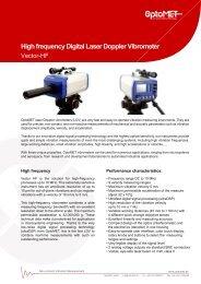 Laser Doppler Vibrometer vibration measuring instrument Model HF