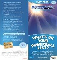 Powerball® guarantees a minimum Division 1 prize pool of $3 ...