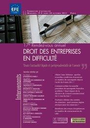 DROIT DES ENTREPRISES EN DIFFICULTÉ - Editions - Efe