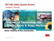 Advanced technology for traffic signs and road markings