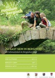 zu gast sein in bergisch4 - Touristikverein bergischer Rhein-Sieg-Kreis