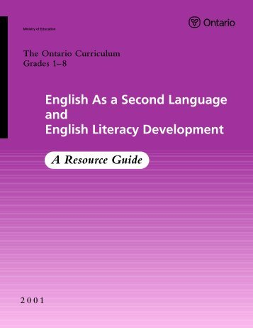English As a Second Language and English Literacy Development
