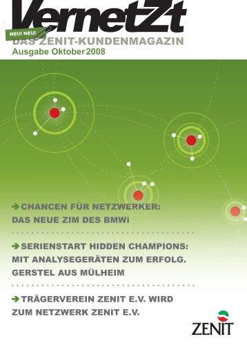 Ausgabe Oktober 2008 - ZENIT GmbH