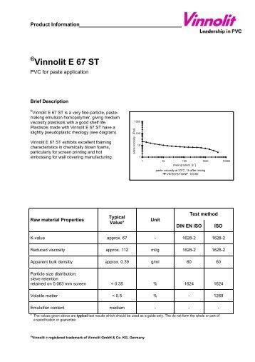 Vinnolit E 67 ST